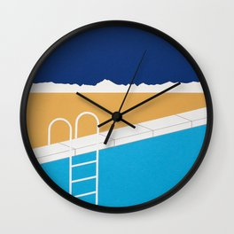 Desert Pool Wall Clock