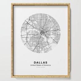 Dallas Circle Map Serving Tray