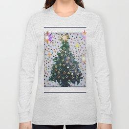 Christmas D3 - Stars & Tree Long Sleeve T-shirt