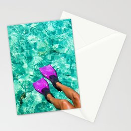 Vacation in the Maldives for the winter holidays Stationery Cards