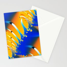 Lava Meets the Sea Fractal Stationery Cards