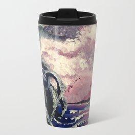 Kraken Waves Rolling In Travel Mug