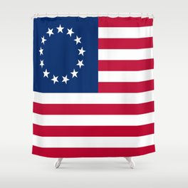 Historical flag of the USA : Betsy ross Shower Curtain
