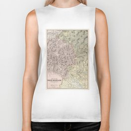 Vintage Map of The White Mountains (1901) Biker Tank