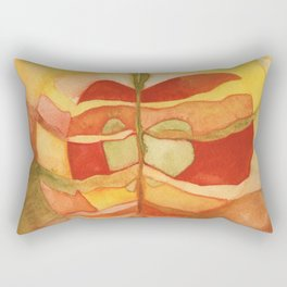 Watercolor Abstract Apple Rectangular Pillow