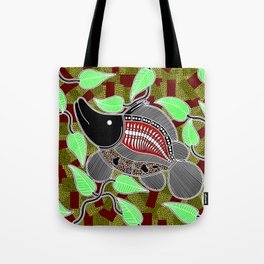 Authentic Aboriginal Art - Barramundi Tote Bag