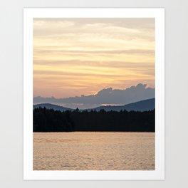 a simple sunset Art Print
