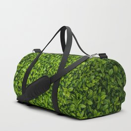 Green Leaves Pattern Duffle Bag