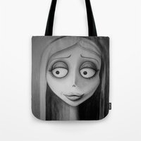 emily rickard Tote Bags featuring Emily by Lynsie Petig
