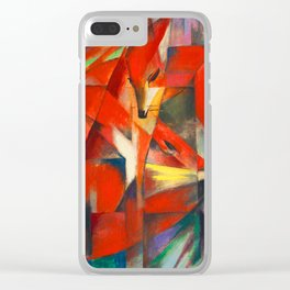 Franz Marc The Foxes Clear iPhone Case