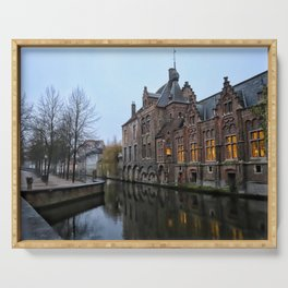 Belgium, City Canal 9 Serving Tray