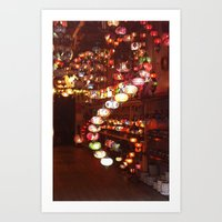 lanterns Art Prints featuring Lanterns by Written In Threads