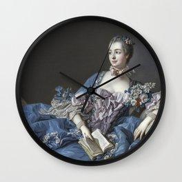 Francois Boucher - Madame De Pompadour Wall Clock