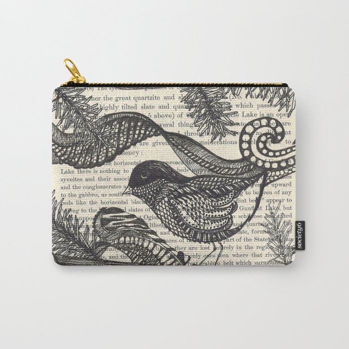Bird in the Pines Carry-All Pouch