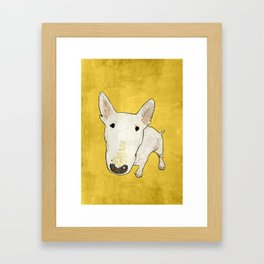 English Bull Terrier pop art Framed Art Print