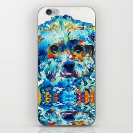 Colorful Dog Art - Lhasa Love - By Sharon Cummings iPhone Skin