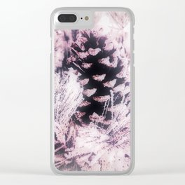 White Pine, Christmas Snowfall Clear iPhone Case