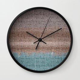 Jig-saw Puzzle Neutral Palette Design Wall Clock