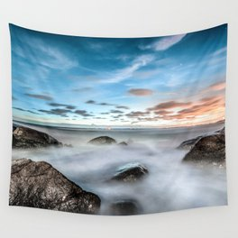 Above the mountines Wall Tapestry