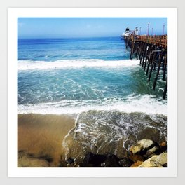 Oceanside Pier Art Prints | Society6