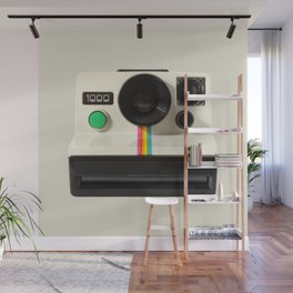 Retro 80's objects - Instant Camera Wall Mural