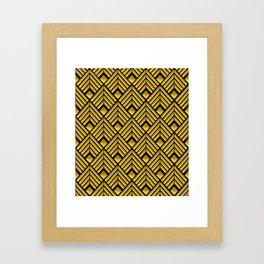 3-D Gold Art Deco Art Décoratif Pattern Framed Art Print