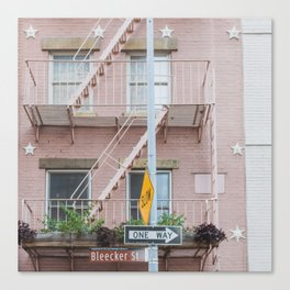 Bleecker Street One Way - NYC Photography Canvas Print