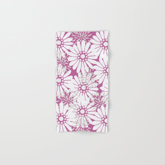 Summer Flowers Purple Hand & Bath Towel