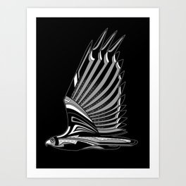 Hawk Deco III Art Print