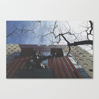 portlandia Canvas Prints featuring Portlandia by Skyler Jordan
