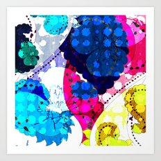 Paisley Pansie Art Print