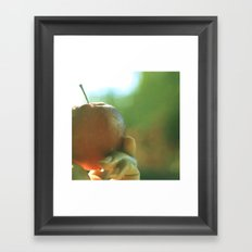 sunny fresh apple Framed Art Print