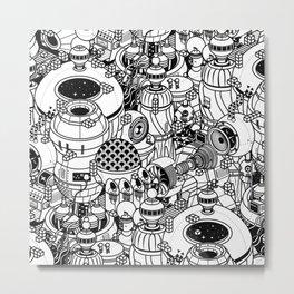Dark Matter Space Machine Metal Print