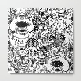 Dark Matter Space Machine Metal Print