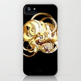 Fractal Christmas Ribbon iPhone Case
