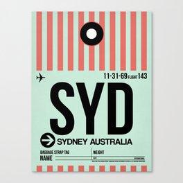 SYD Sydney Luggage Tag 1 Canvas Print