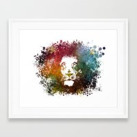 the lion king Framed Art Prints featuring Lion King by jbjart