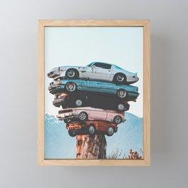 Car Totem Pole Framed Mini Art Print