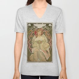 Vintage poster - Woman with flowers Unisex V-Neck