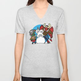 Hell Freezes Over Snowman Unisex V-Neck