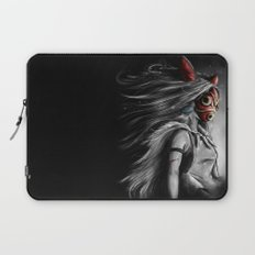 Miyazaki's Mononoke Hime Digital Painting the Wolf Princess Warrior Color Variation Laptop Sleeve