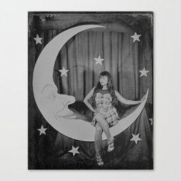 Paper Moon - Tintype Photo Canvas Print