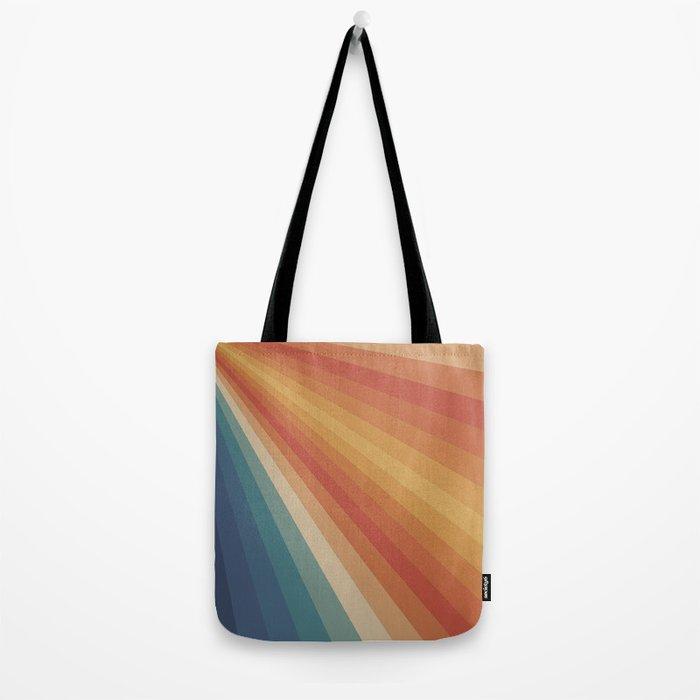 Retro 70s Sunrays Tote Bag