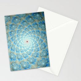 Spiral of Spirals in Blue and White Stationery Cards