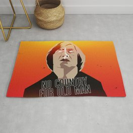 No Country For Old Man Poster Rug