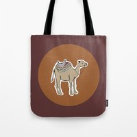 camel Tote Bags featuring camel by johanna strahl