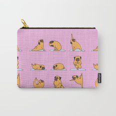Pug Yoga // Pink Carry-All Pouch
