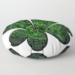 Zen Doodle Clover Shamrock Bright Green St. Patty's Day Art Floor Pillow