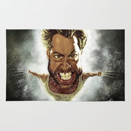 Wolverine Caricature Rug