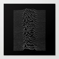 joy division Canvas Prints featuring Joy Division  by Thug